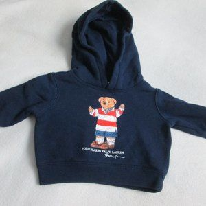 POLO RALPH LAUREN POLO BEAR HOODIE SIZE 3 MONTHS